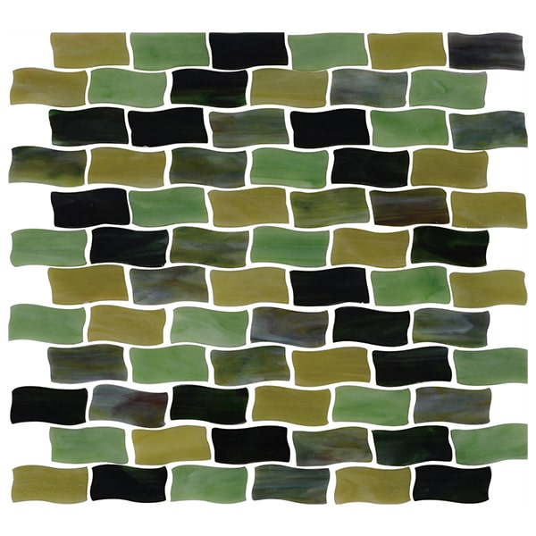 Green Color Stained Glass Mosaic for Bathroom, Kitchen Backsplash, Swimming Pool